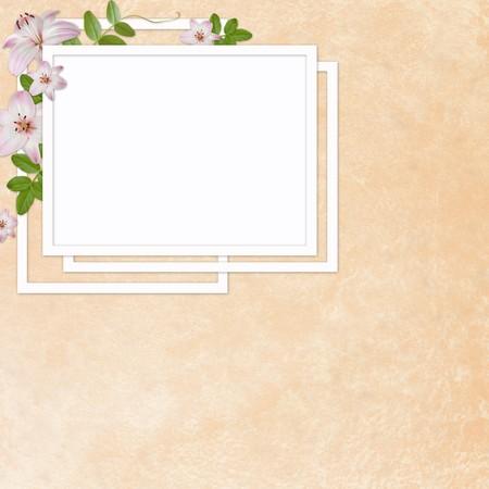 docket: Framework for photo or congratulation  Stock Photo