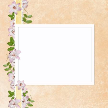docket: Framework for invitation or congratulation. Stock Photo