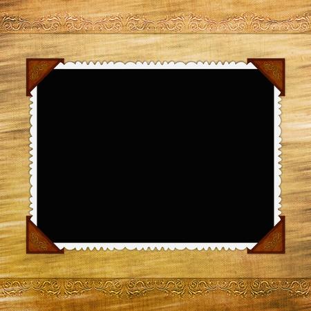 album page: Framework for photo or invitation  Stock Photo