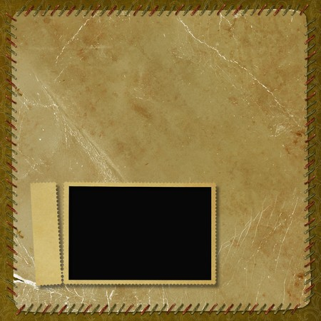 Vintage background with frame photo