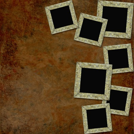 Vintage background with frames, photo