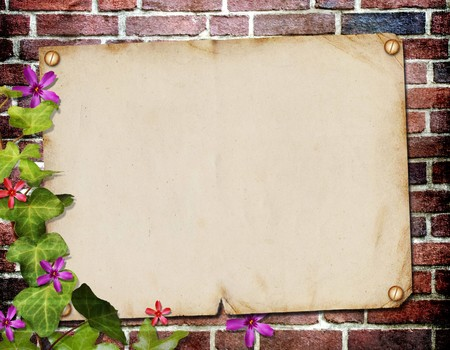Grunge paper design for information in scrap-booking style Stock Photo - 7884915