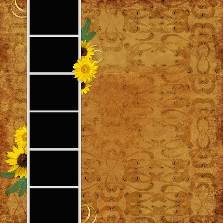 Vintage background with frames Stock Photo - 7884927