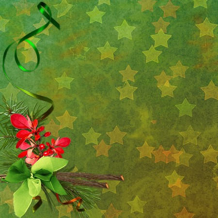 Green  Christmas background photo