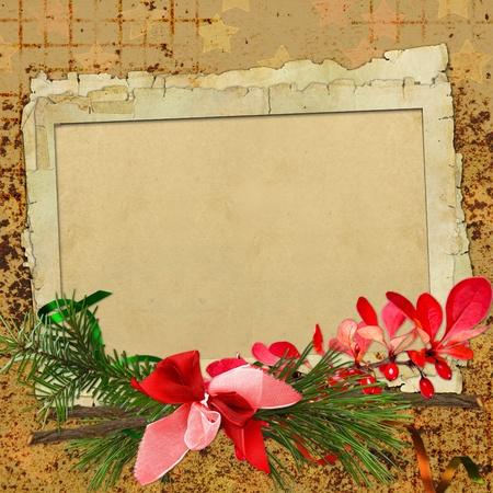 christmas photo frame: merry christmas card