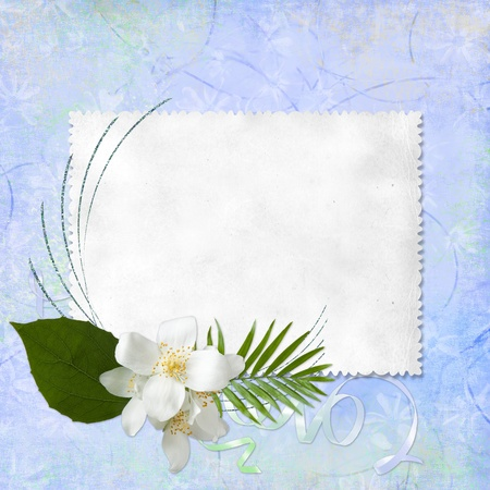 Grunge paper design for information photo
