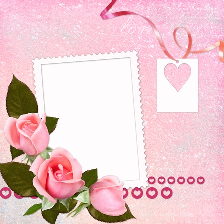 Lovely frame for Valentines day  photo