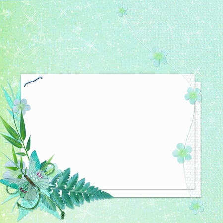 Grunge papers design in scrap-booking style photo