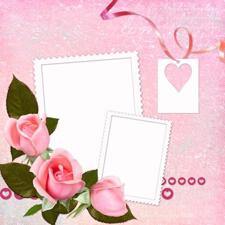 Lovely frame for Valentine's day  Stock Photo - 8618389
