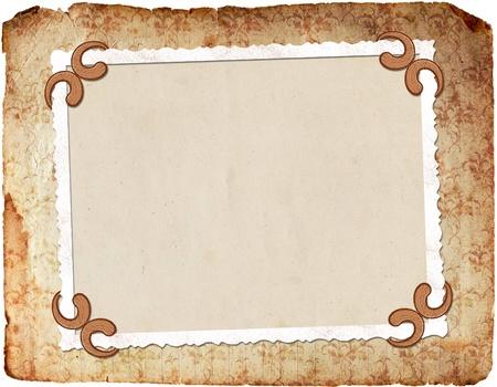 docket: Framework for photo or invitation  Stock Photo