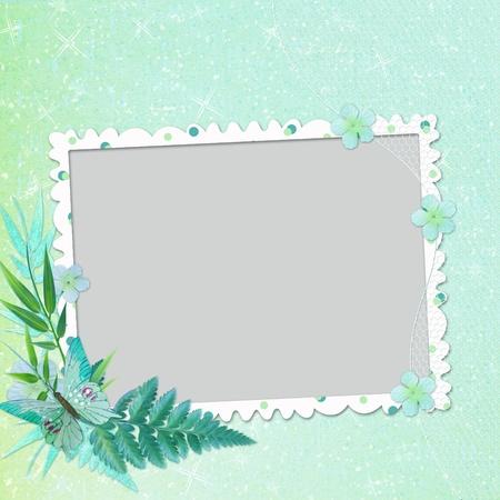 photo album cover: Framework for invitation or congratulation. Stock Photo