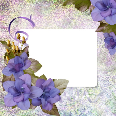 Floral greeting card with place for your text. photo