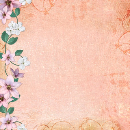 Summer background with flowers photo