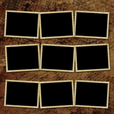 Vintage background with frames Stock Photo - 9413262