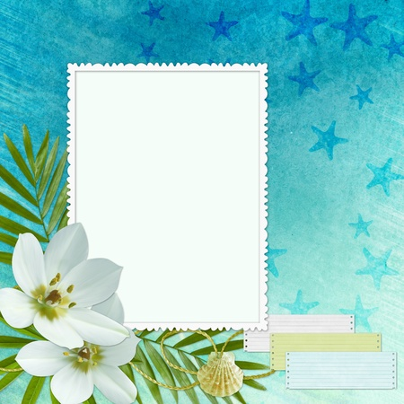 anniversary beach: Sea Greeting Card Stock Photo