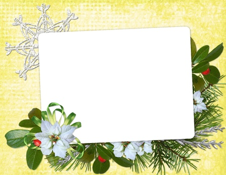 Congratulation card to Christmas and New year photo