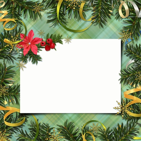 lacet: Congratulation card to Christmas and New year