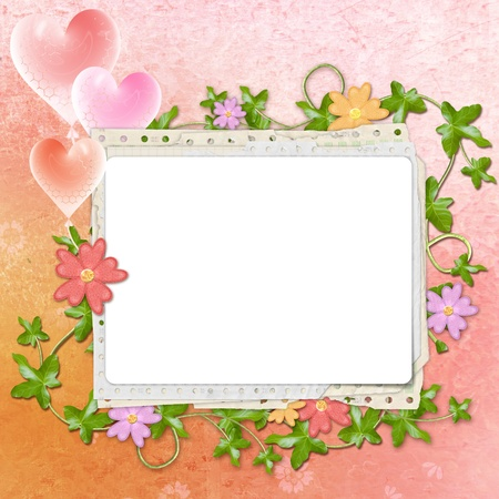 Framework for invitation or congratulation photo