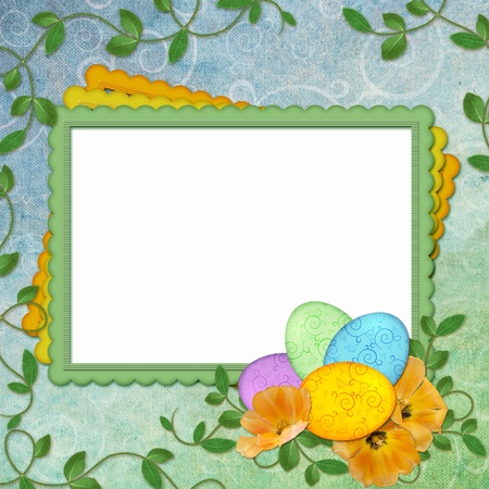 Easter greeting card with decorative egg