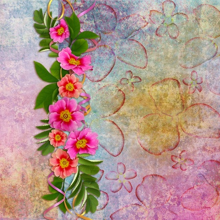 frayed: Background for congratulation  card