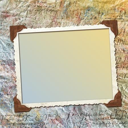 scrapbook cover: Grunge dise�o de papel para obtener informaci�n en el estilo de chatarra de reserva Foto de archivo