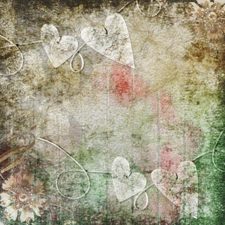 grunge leaf: Vintage background  for invitation