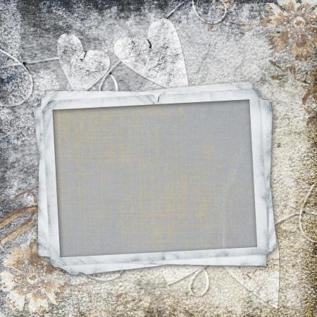 the album announcement: retro background with decorative frame