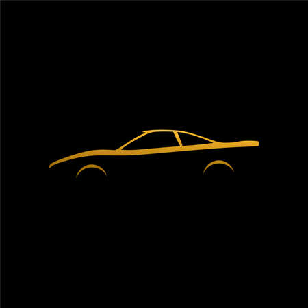 classic car , sport car , supercar silhouette Ilustrace