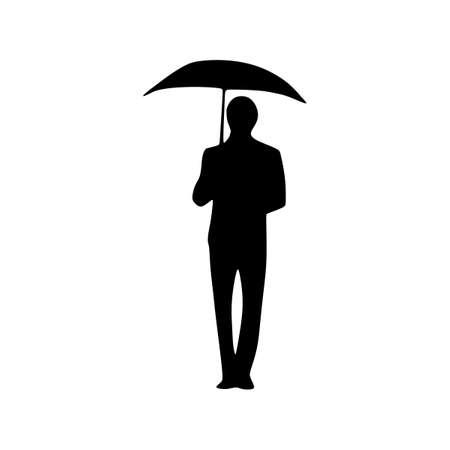 man umbrella silhouette