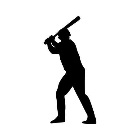man play baseball silhouette sport Ilustrace
