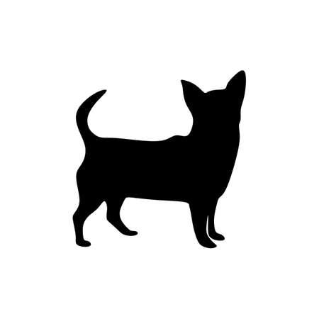 chihuahua silhouette dog vector art