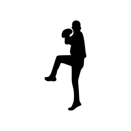 man playing tennis silhouette sport Ilustrace