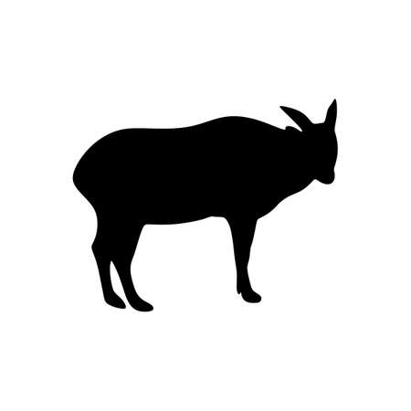 anoa silhouette animal vector