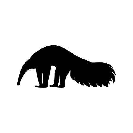 anteater animal silhouette vector art