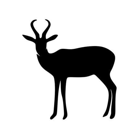 antilope silhouette vector art animal Ilustrace