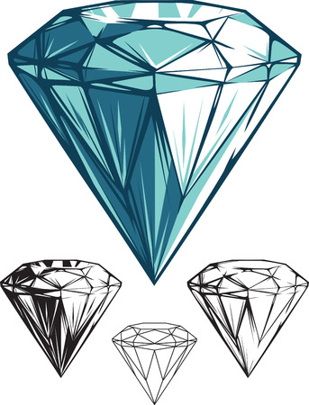 Glittery Diamond Vector Illustration