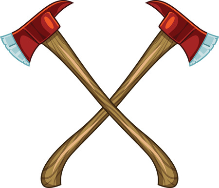 Crossed Firefighter Axes