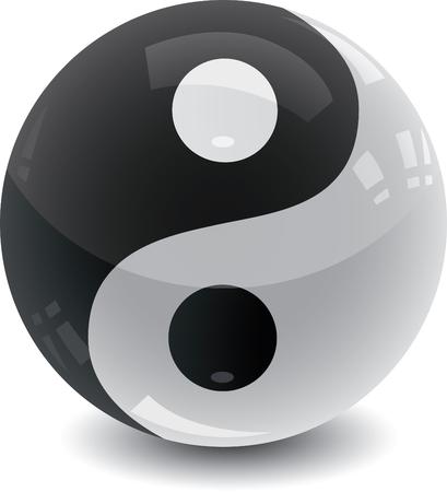 Yin Yang Glossy Marble