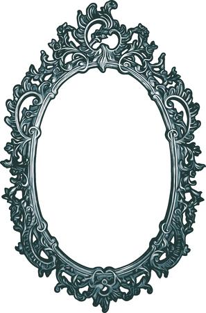 Ornamental Decorative Vector Frame Ilustração