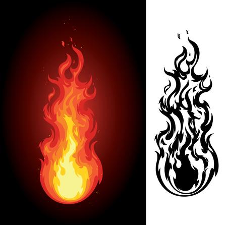 Tall Roaring Hot Flame