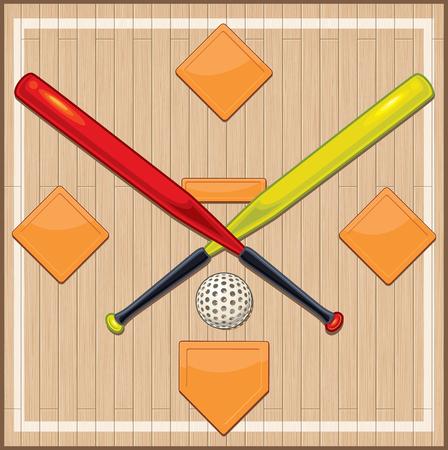 Wiffle Ball and Bats on Floor