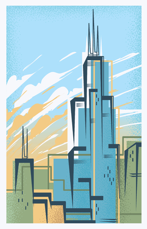 Vintage Travel Poster of Chicago