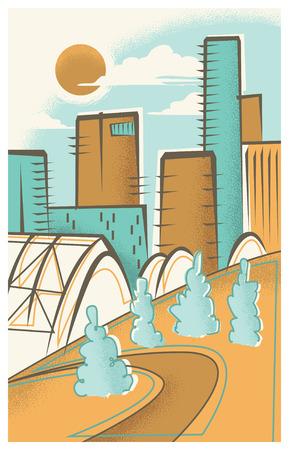 Vintage Travel Poster of Denver Illustration