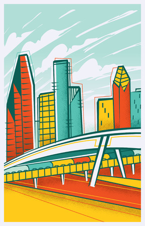 Vintage Travel Poster of Houston