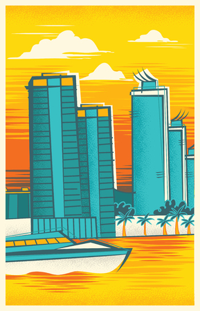 Vintage Travel Poster of Miami