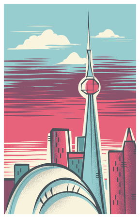 Vintage Travel Poster of Toronto  イラスト・ベクター素材