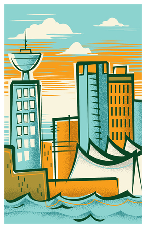 Vintage Travel Poster of Vancouver