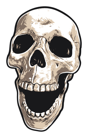 Realistic Laughing Skull