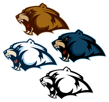 Assorted Bear Head Mascots