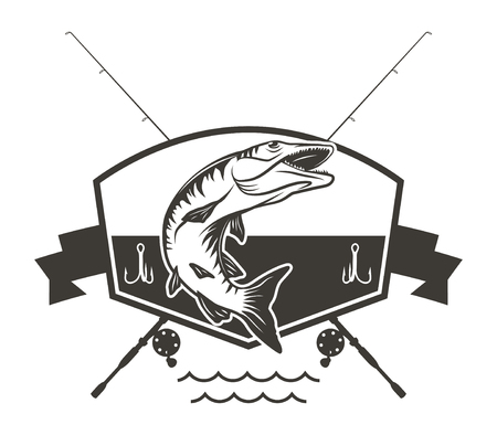 Muskie Fishing Badge